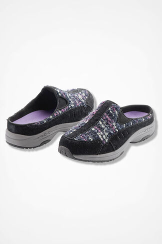 """""""Synergy"""" Bouclé Slip-Ons by Walk With Me™, Black, large"""