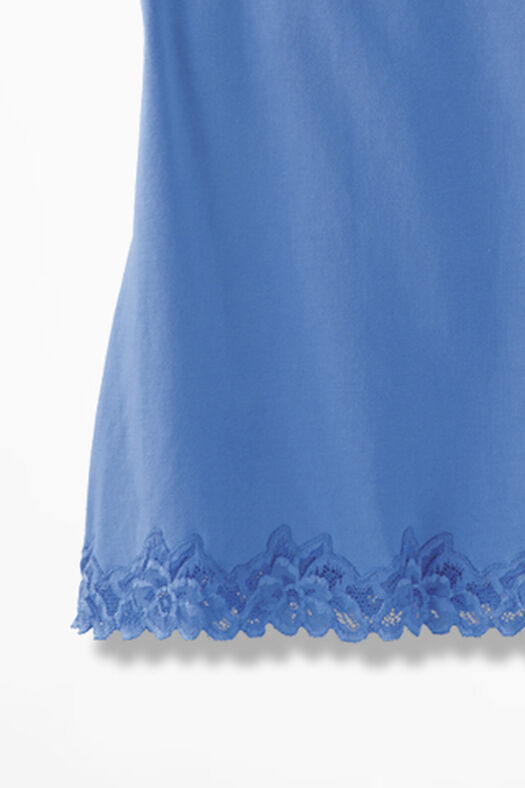 Double Lace Tank, French Blue, large