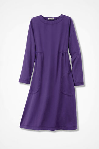 Easy Days Tencel® Twill Dress, Aubergine, large