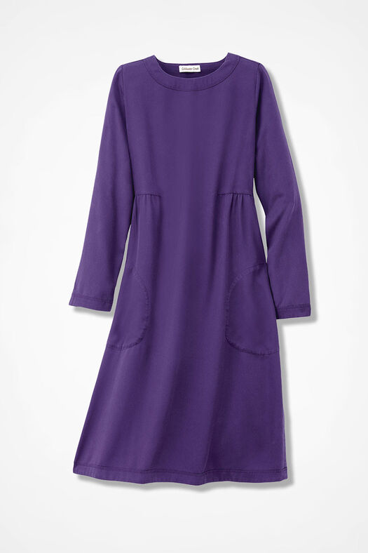 Easy Days Tencel® Twill Dress, Aubergine, large