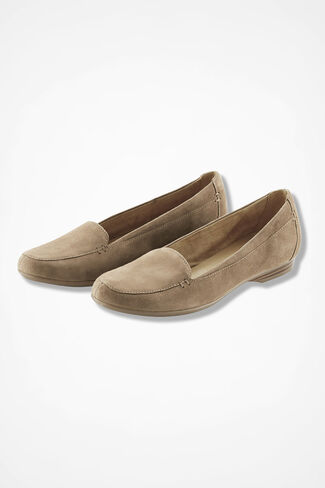 """""""Saban"""" Suede Flats by Naturalizer®, Taupe, large"""
