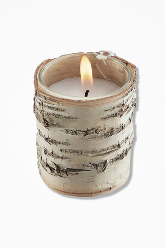 Natural Birch Votive Candle, Natural, large