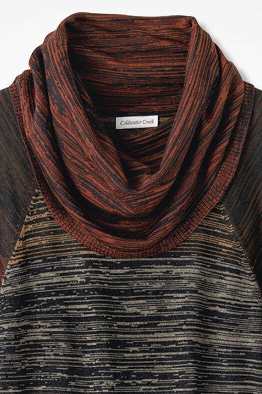 Optic Art Sweater, Rust, large