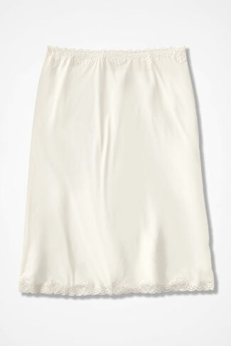 "Stretch-Comfort 23"" Half Slip, Ivory, large"