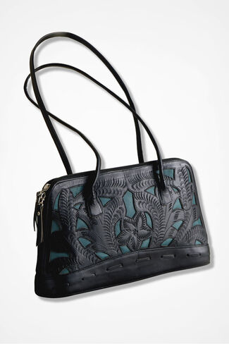 Eventide Leather Bag, Black, large