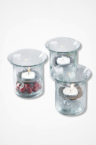 Recycled Glass Votive, Clear, large