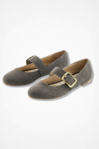 """Crissy"" Suede Flats by Me Too®, Spruce, large"