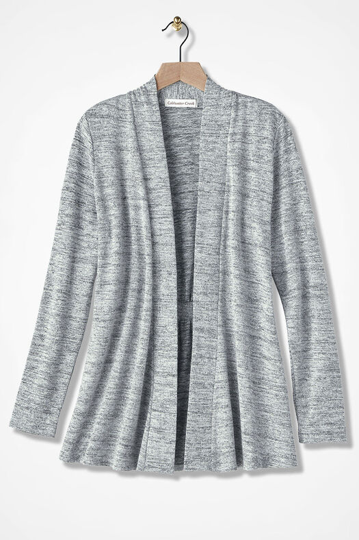 Finishing Touch Knit Cardigan, Silver, large