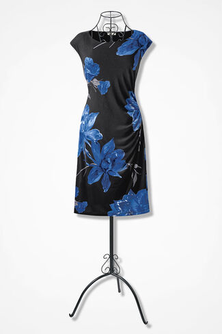Midnight Blossoms Dress, Black Multi, large