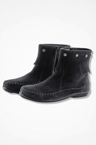 """""""Free Spirit"""" Suede Boots by Walk With Me™, Black, large"""