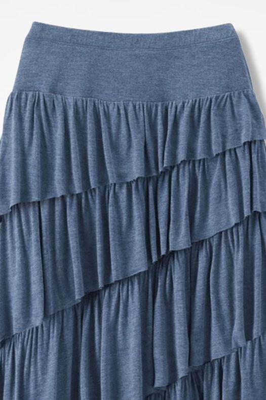 New Angle Maxi Skirt, Indigo Heather, large