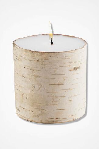Natural Birch Pillar Candle, Natural, large