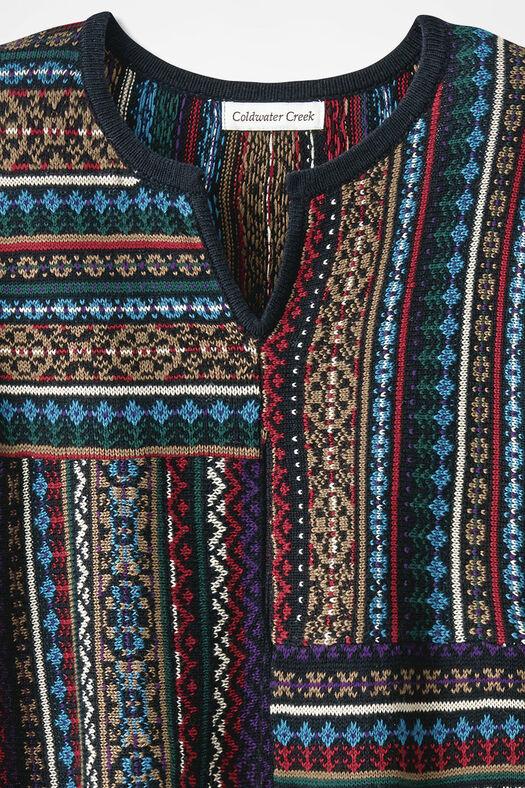 Artisan Patchwork Tunic, Red Multi, large