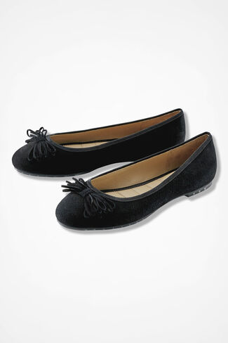 """Cassi"" Flats by Me Too®, Black, large"