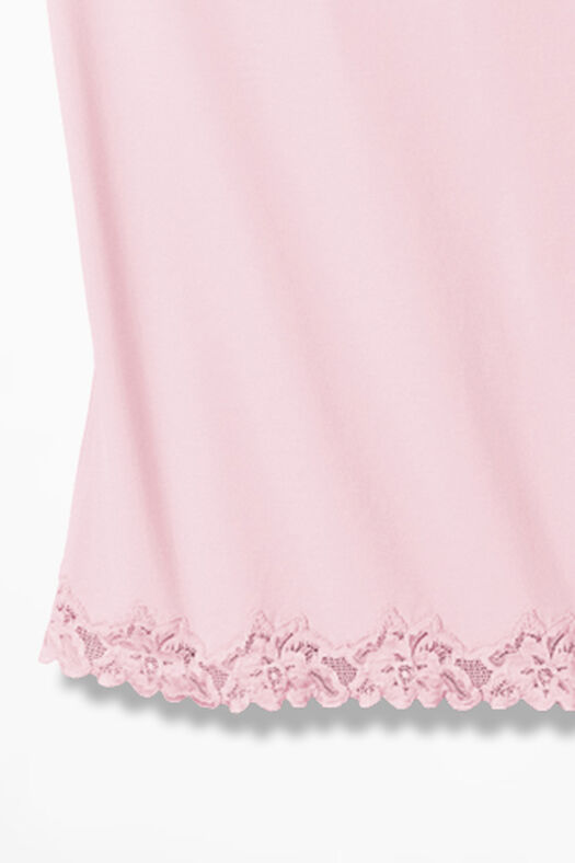 Double Lace Tank, Soft Pink, large