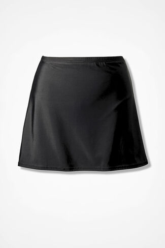 Swim Skirt, Black, large