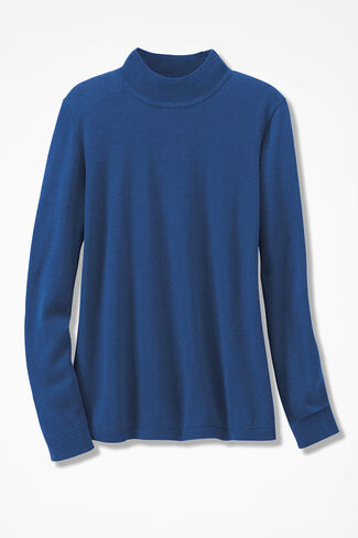 Day-to-Day Mockneck Sweater, Lapis, large