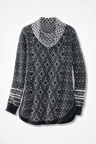 Fireside Lodge Sweater, Black, large