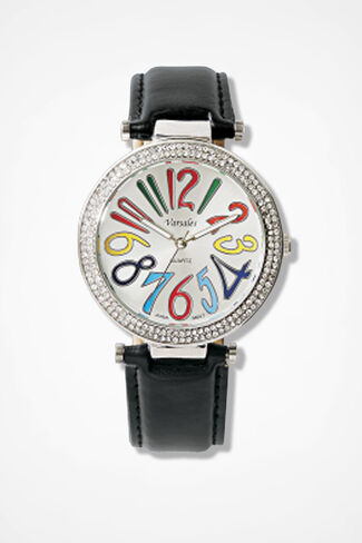 Counting Colors Watch, Black, large
