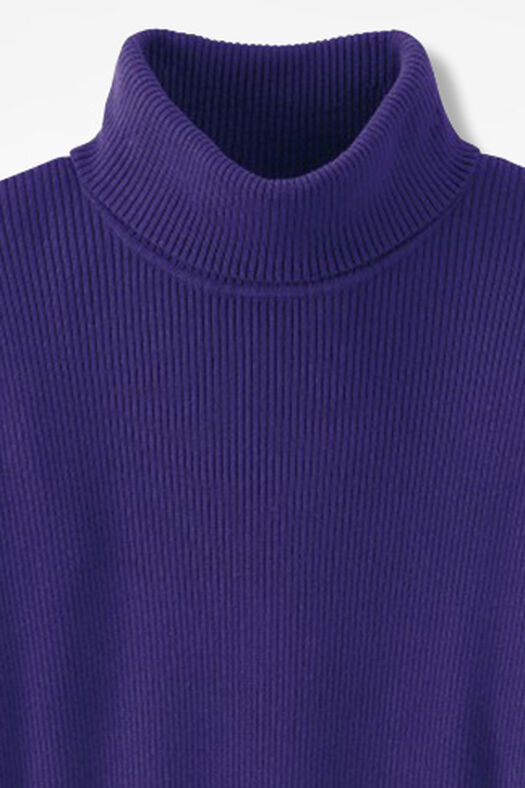 Ribbed Turtleneck Sweater, Amethyst, large
