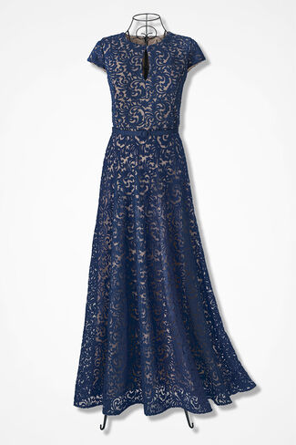 Midnight Melody Dress by Alex Evenings, Navy, large