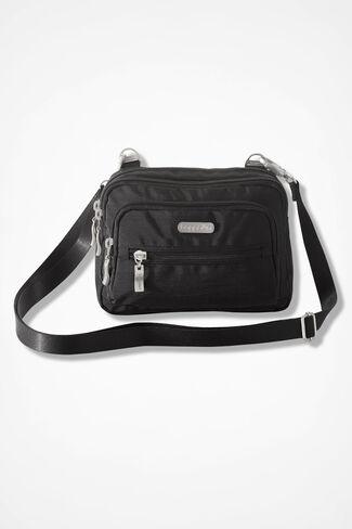 Triple Zip Bagg by Baggallini®, Black, large