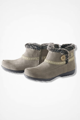 """Foothills"" Suede Boots by Walk With Me™, Taupe, large"
