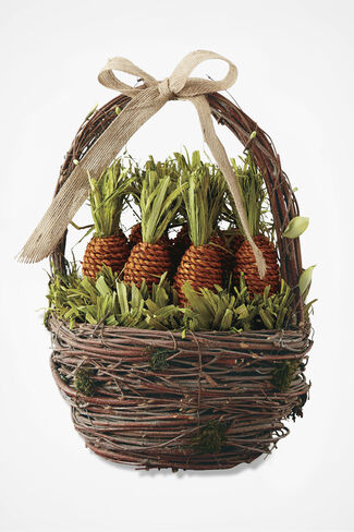 Carrot Patch Basket, Brown, large