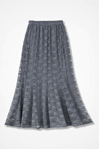 Lavish Lace Skirt, Graphite, large