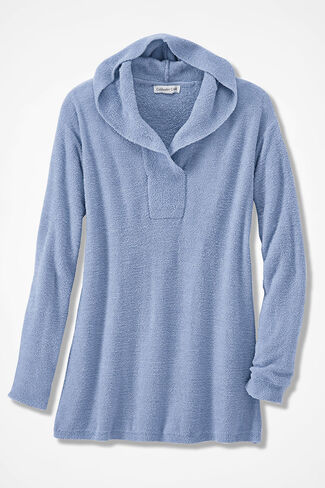 Nirvana Hooded Pullover, Dusty Blue, large