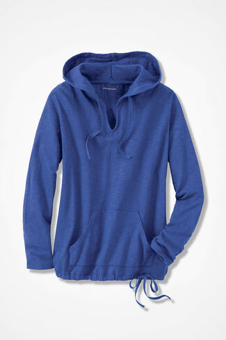 Harbor Walk Hoodie, Iris Blue, large
