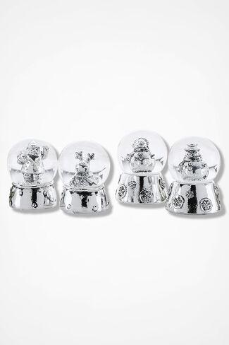 Vintage Charm Snowglobes, Silver, large