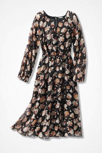 Garden Stroll Dress, Black Multi, large