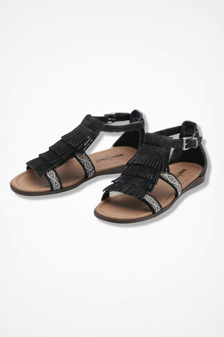 """Maui"" Sandals by Minnetonka®, Black, large"