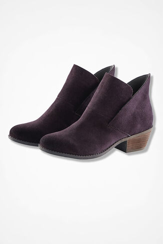 """Zena"" Suede Boots by Adam Tucker, Blackberry, large"