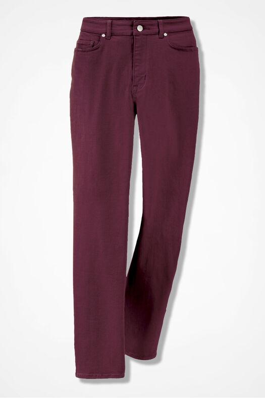 The Creek® Straight-Leg Jeans, Wine, large