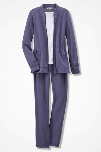 Leisuretime Fleece Jacket Set, Deep Thistle, large