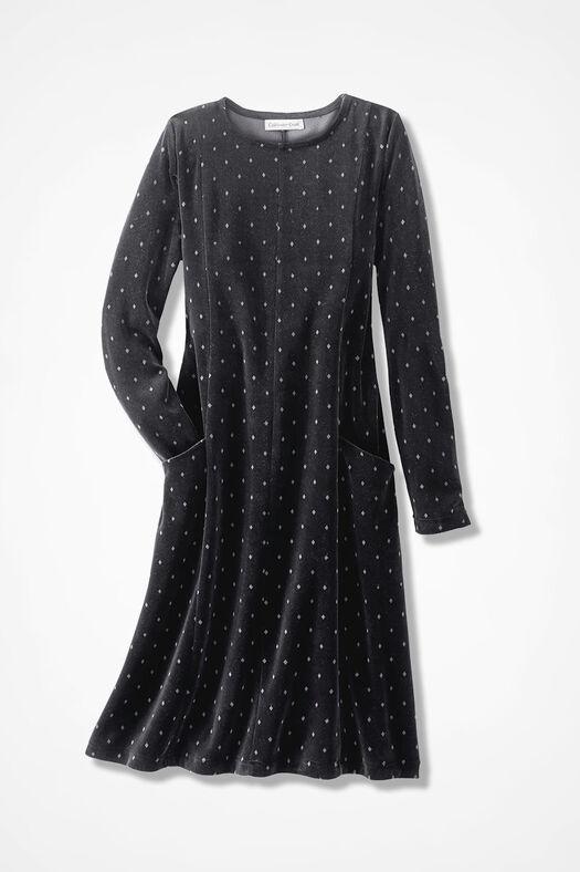 Velour du Jour Print Dress, Black Multi, large