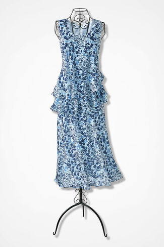 Bewitching Blues Tiered Dress, Blue Multi, large