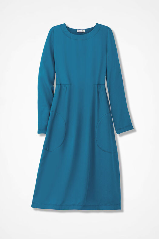Easy Days Tencel® Twill Dress, Mallard Blue, large