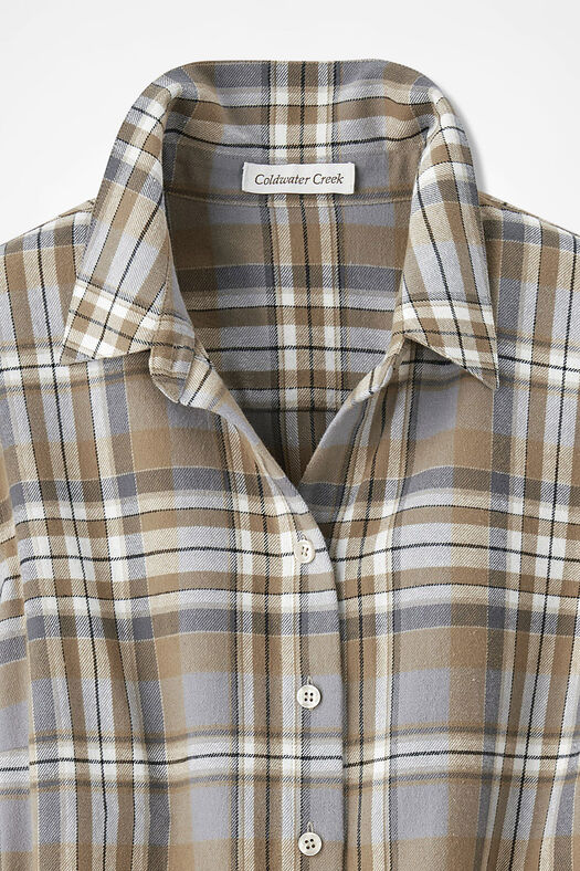 Northcountry Flannel Shirt, Camel Multi, large