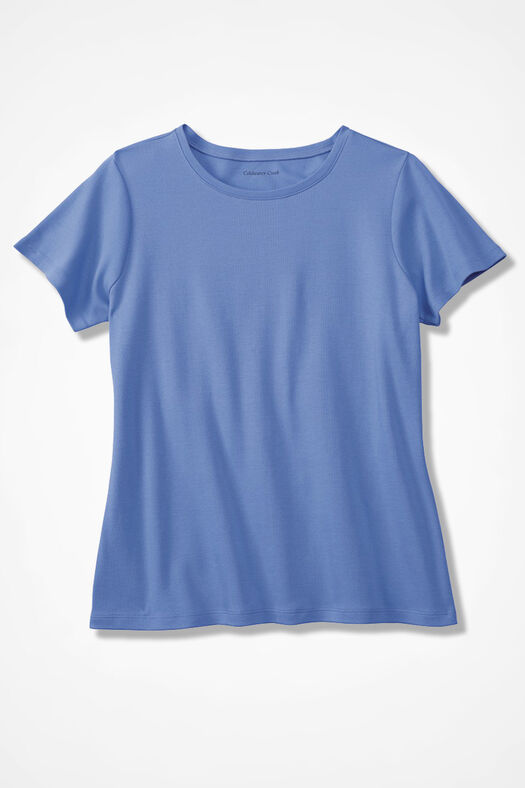 Essential Supima® Crewneck Tee, French Blue, large