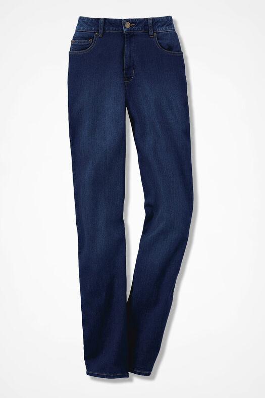 The Creek® ShapeMe® Relaxed Straight-Leg Jean, Dark Wash, large