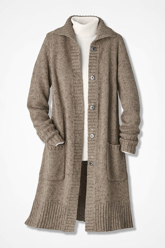 Winter Mix Duster, Camel, large