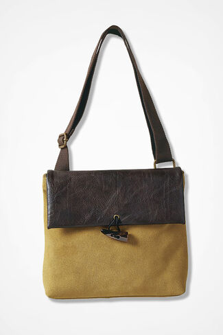 Prairie Sun Suede Bag, Honey, large