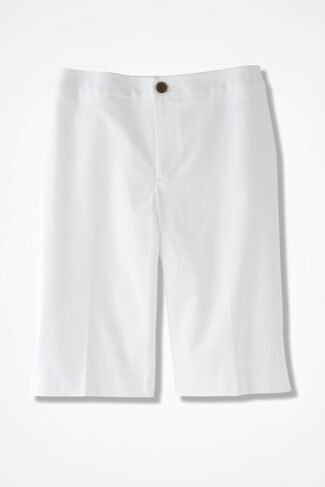 CottonLuxe® City Shorts, White, large