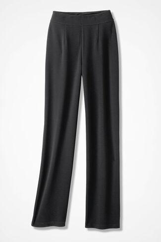 Signature Knit Crepe Pants, Black, large