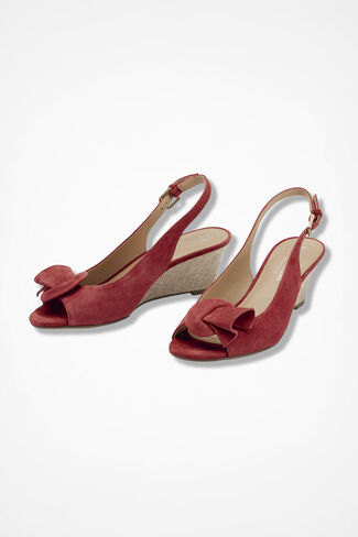 """Tinna"" Wedges by Naturalizer®, Rich Coral, large"