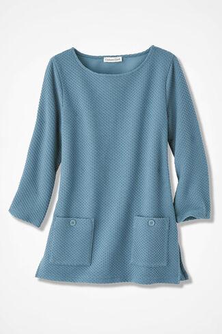 Textured Knit Tunic, Lagoon, large