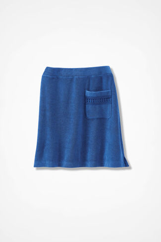 Time for Terry Skirt, Cobalt, large